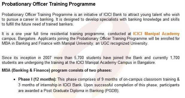 ICICI Bank Probationary Officers Openings for Freshers | Bank Jobs ...